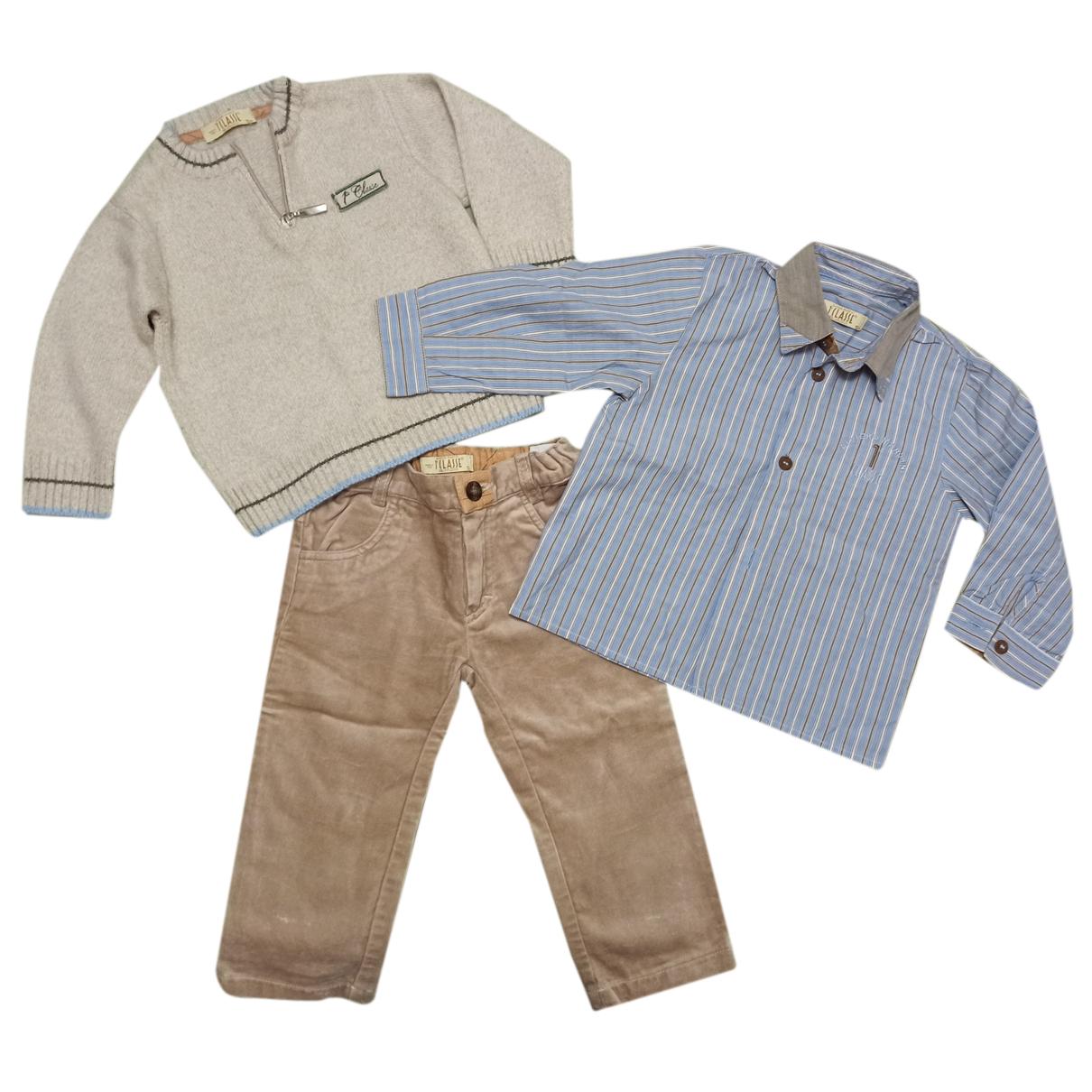 - Les ensembles   pour enfant en coton - beige