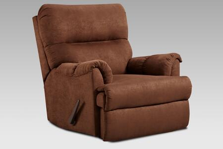 Payton Collection 192155-C-AC 40 Recliner Chaise Rocker Recliner with Plush Padded Arms  Tufted Details and Aruba Chocolate Fabric Upholstery in