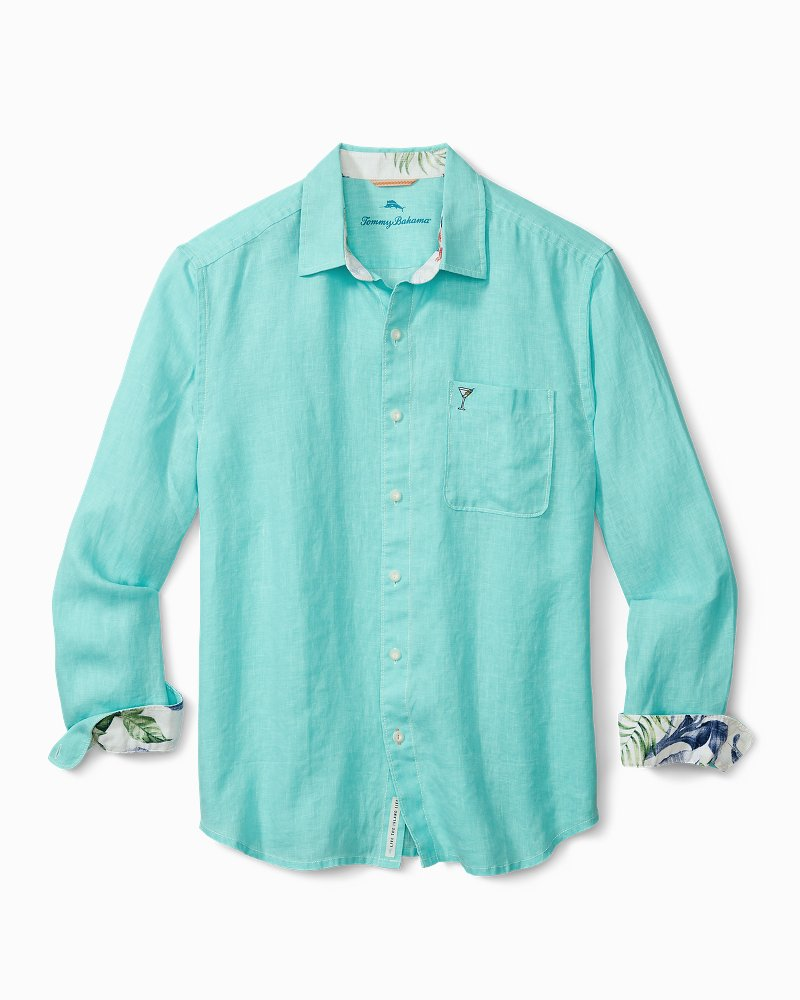 Big & Tall Breezer Martini Hour Linen Shirt