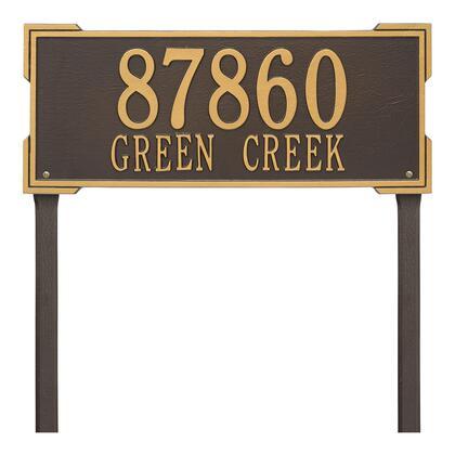 1122OG Personalized Roanoke Plaque - Estate -Lawn - 2 Line in