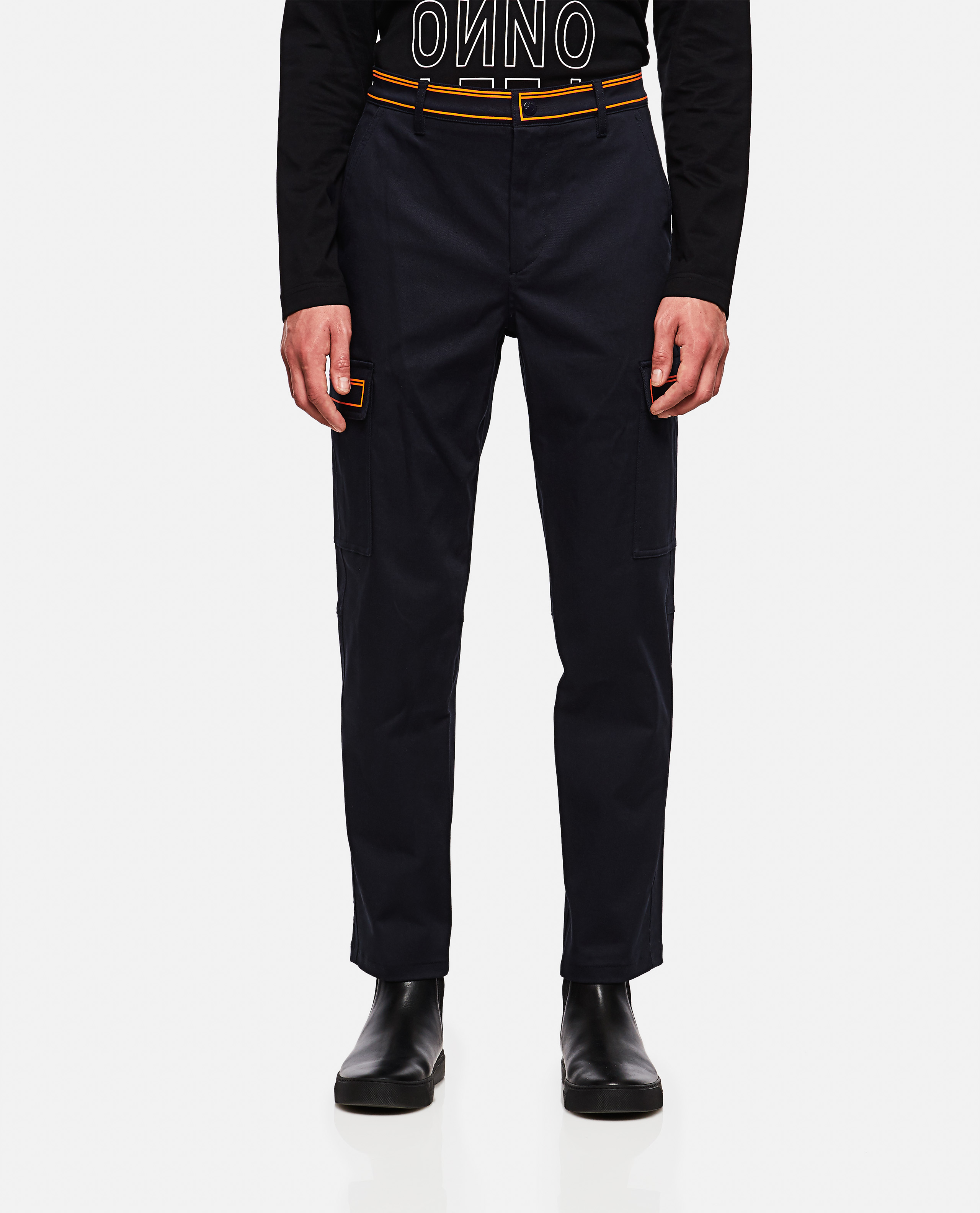 Trousers with contrasting detail