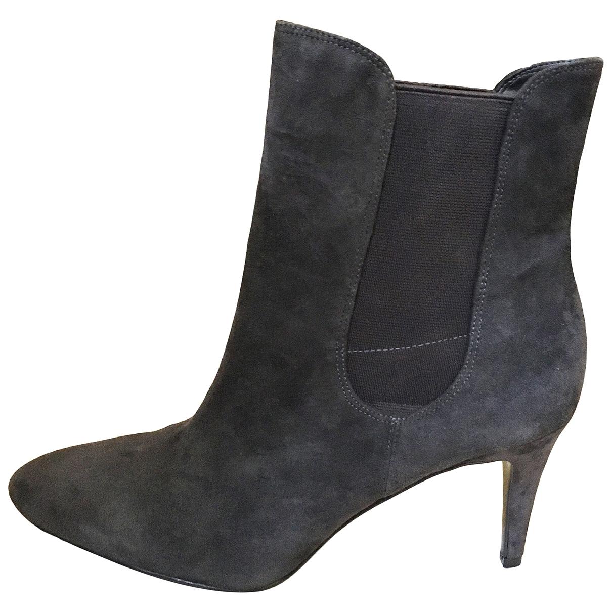 Lauren Ralph Lauren - Boots   pour femme en suede - gris