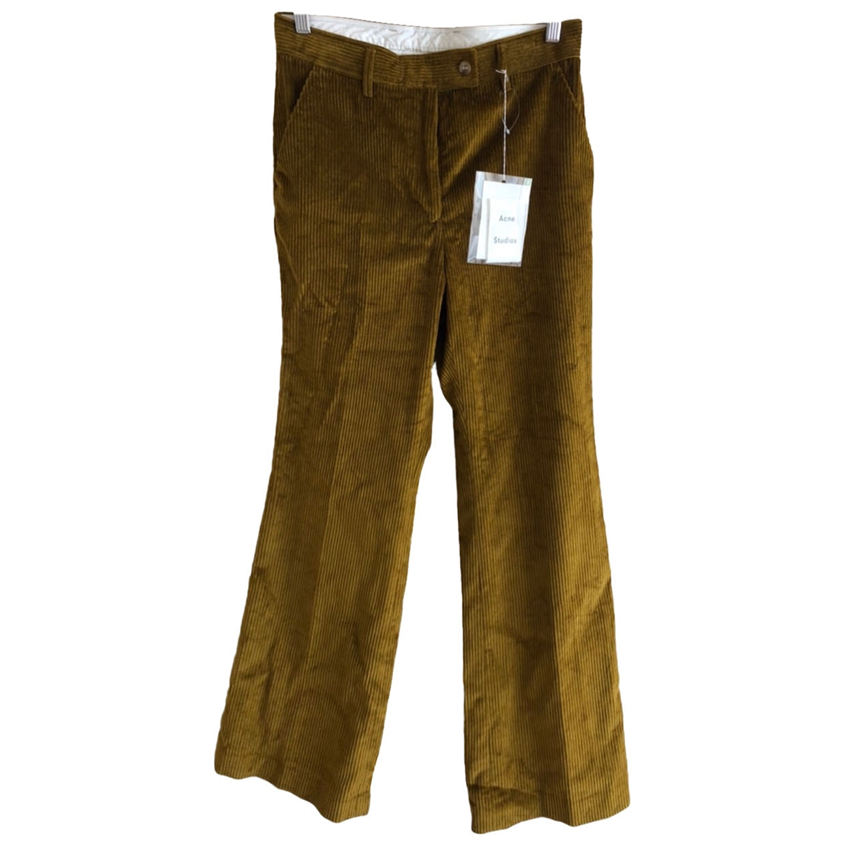 Acne Studios \N Brown Cotton Trousers for Women 38 FR