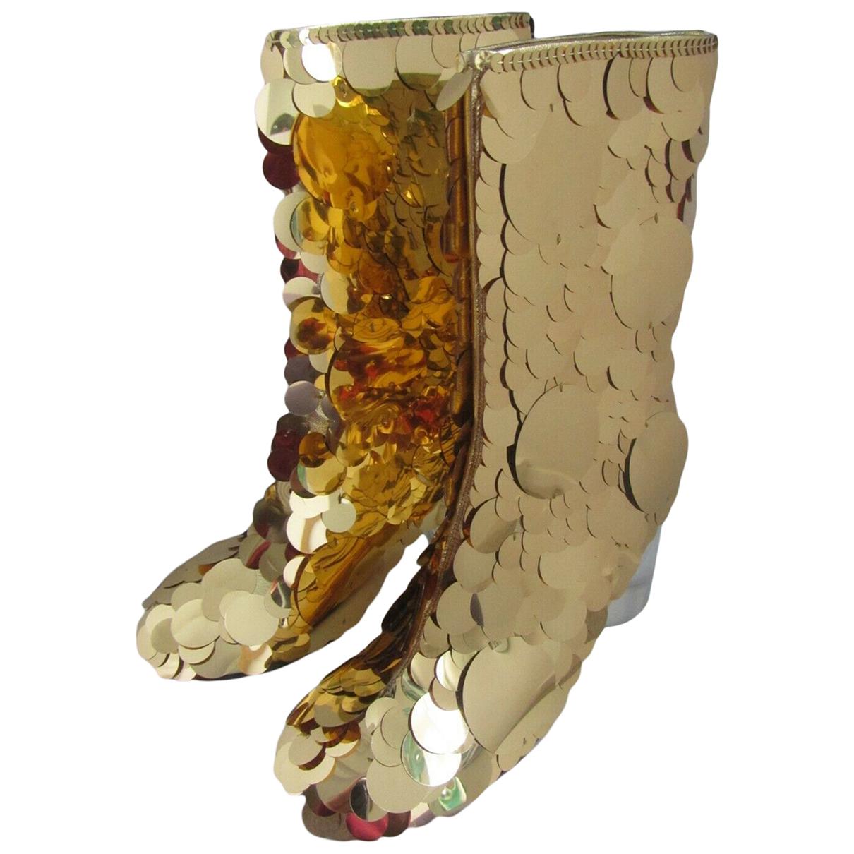 Maison Martin Margiela - Boots   pour femme en a paillettes - dore