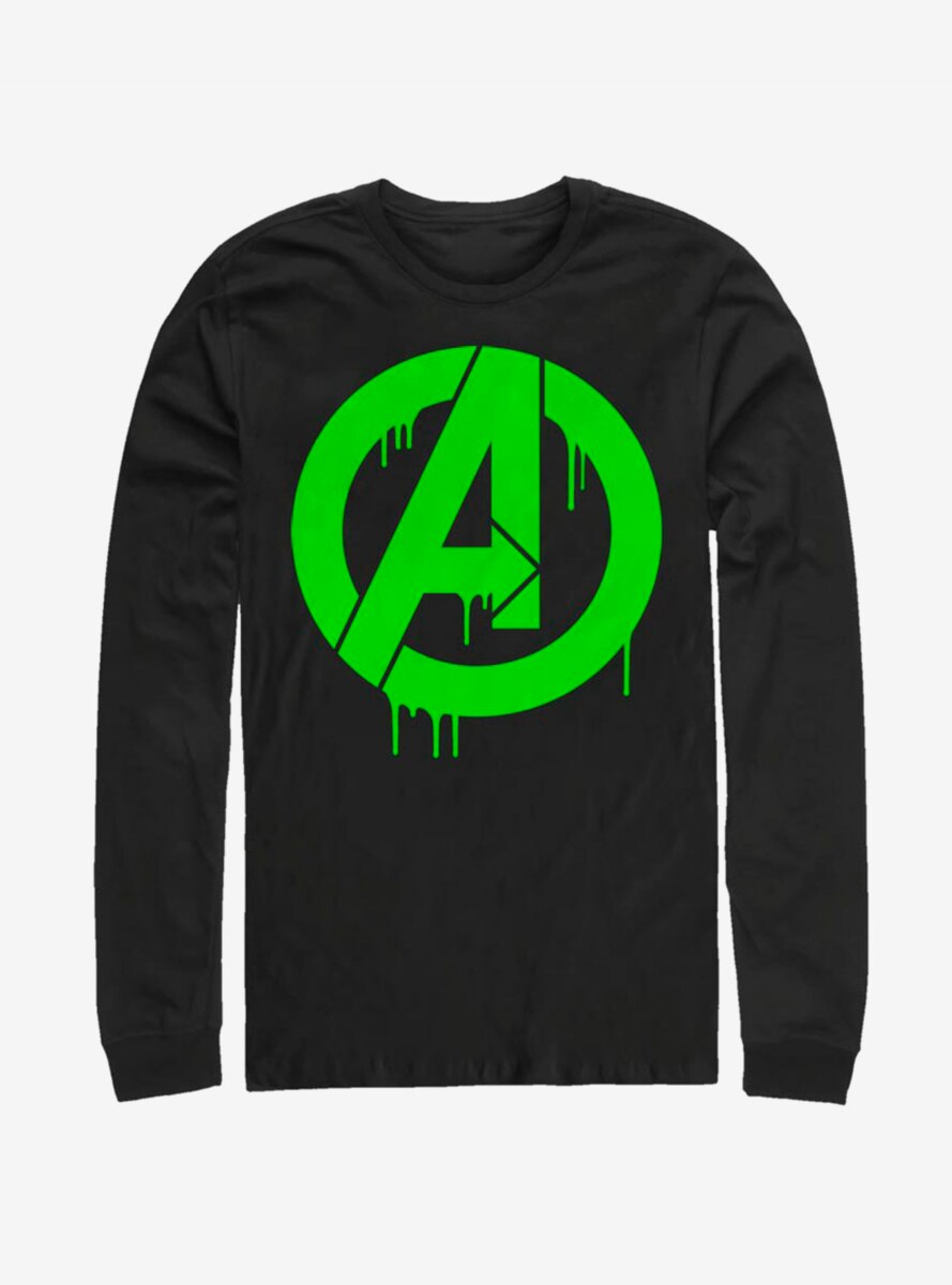 Marvel Avengers Green Slime Logo Long-Sleeve T-Shirt