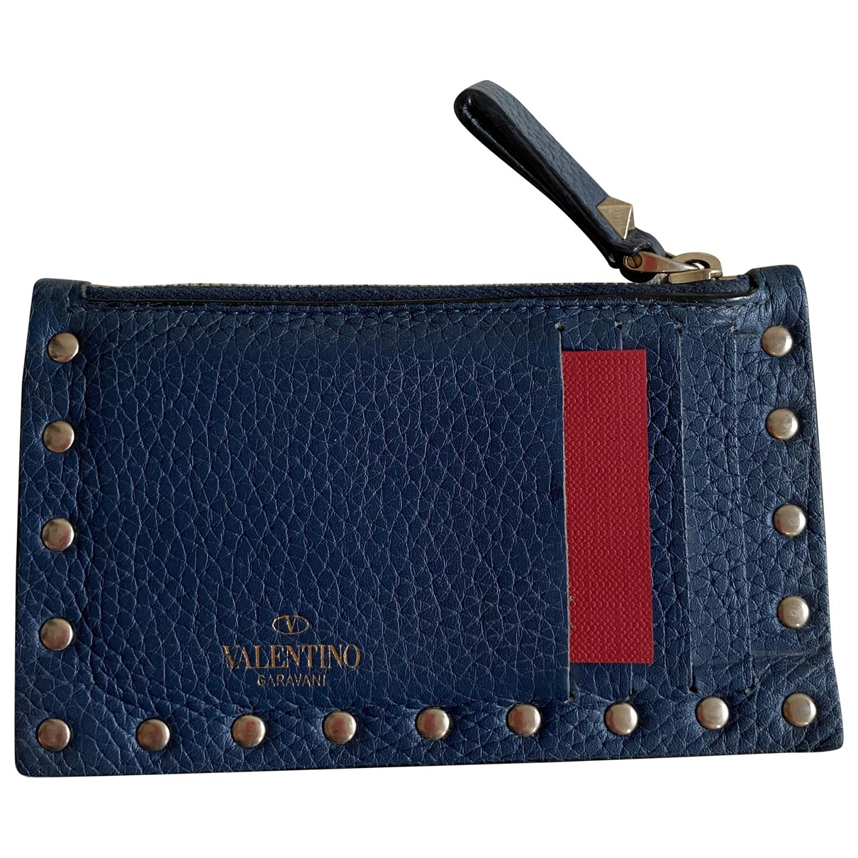 Valentino Garavani Guitar Rockstud Blue Leather Purses, wallet & cases for Women N