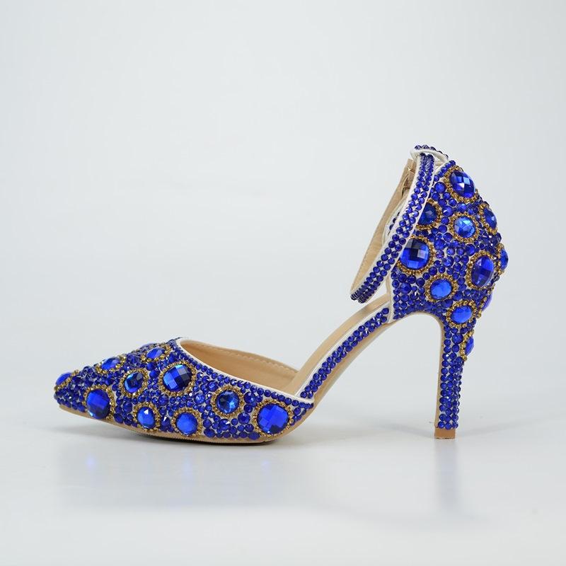 Ericdress Rhinestone Stiletto Heel Pointed Toe Wedding Shoes