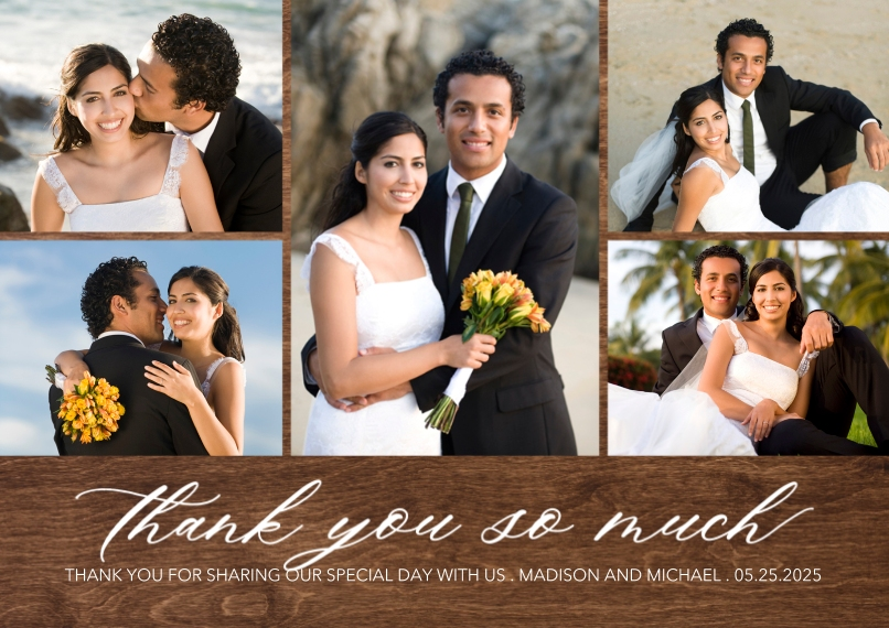 Wedding Thank You Mail-for-Me Premium 5x7 Flat Card, Card & Stationery -Thank You Elegant Delight by Tumbalina