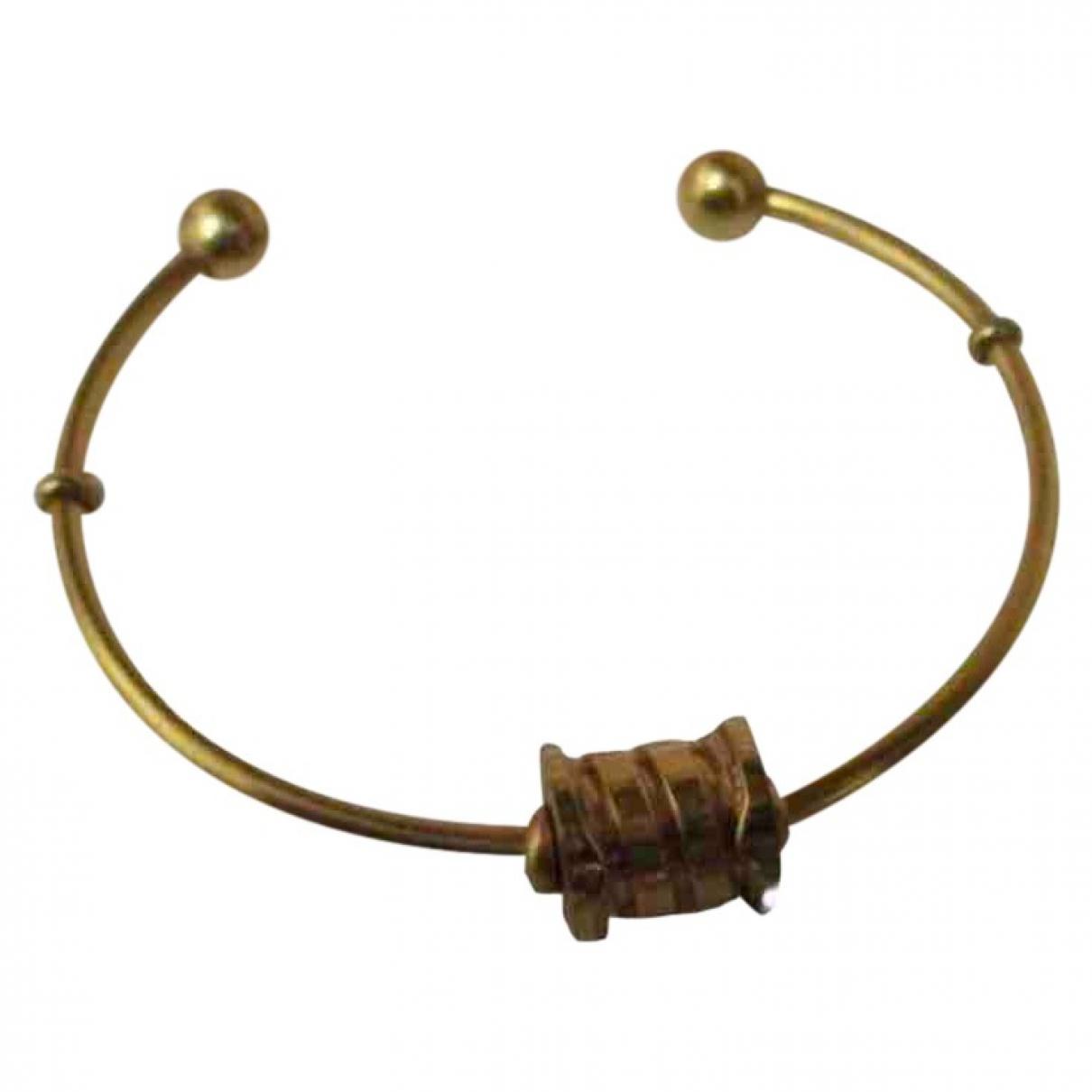 Non Signe / Unsigned Jonc Armband in  Gold Vergoldet