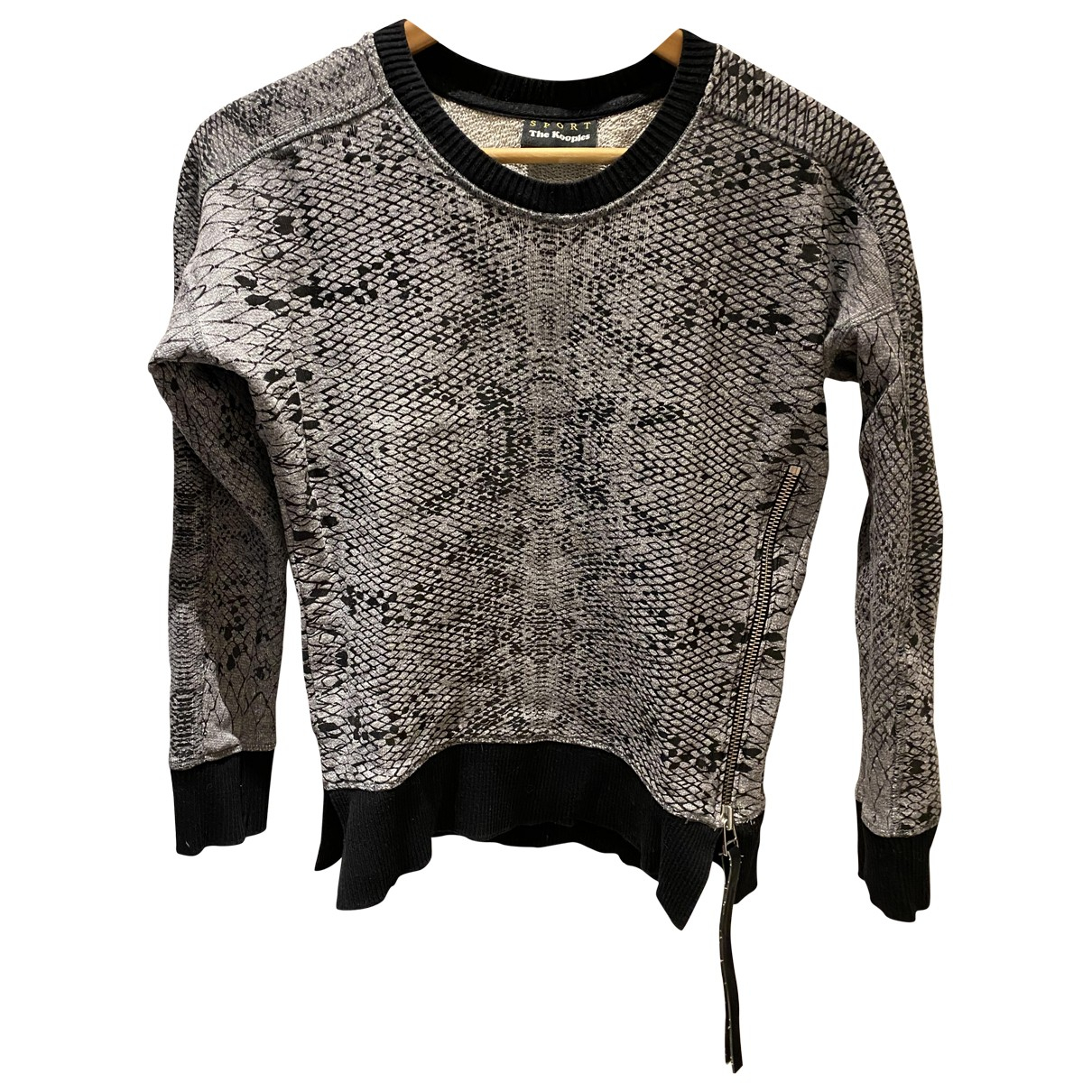 The Kooples \N Anthracite Cotton Knitwear for Women 36 FR
