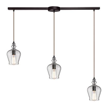 60066-3L Menlow Park Collection 3 Light chandelier in Oil Rubbed