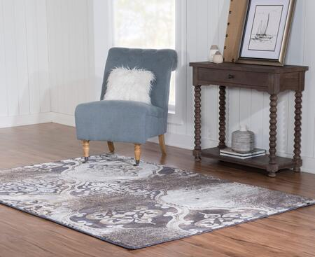 RUGBYJ1658 5 x 8 Rectangle Area Rug in