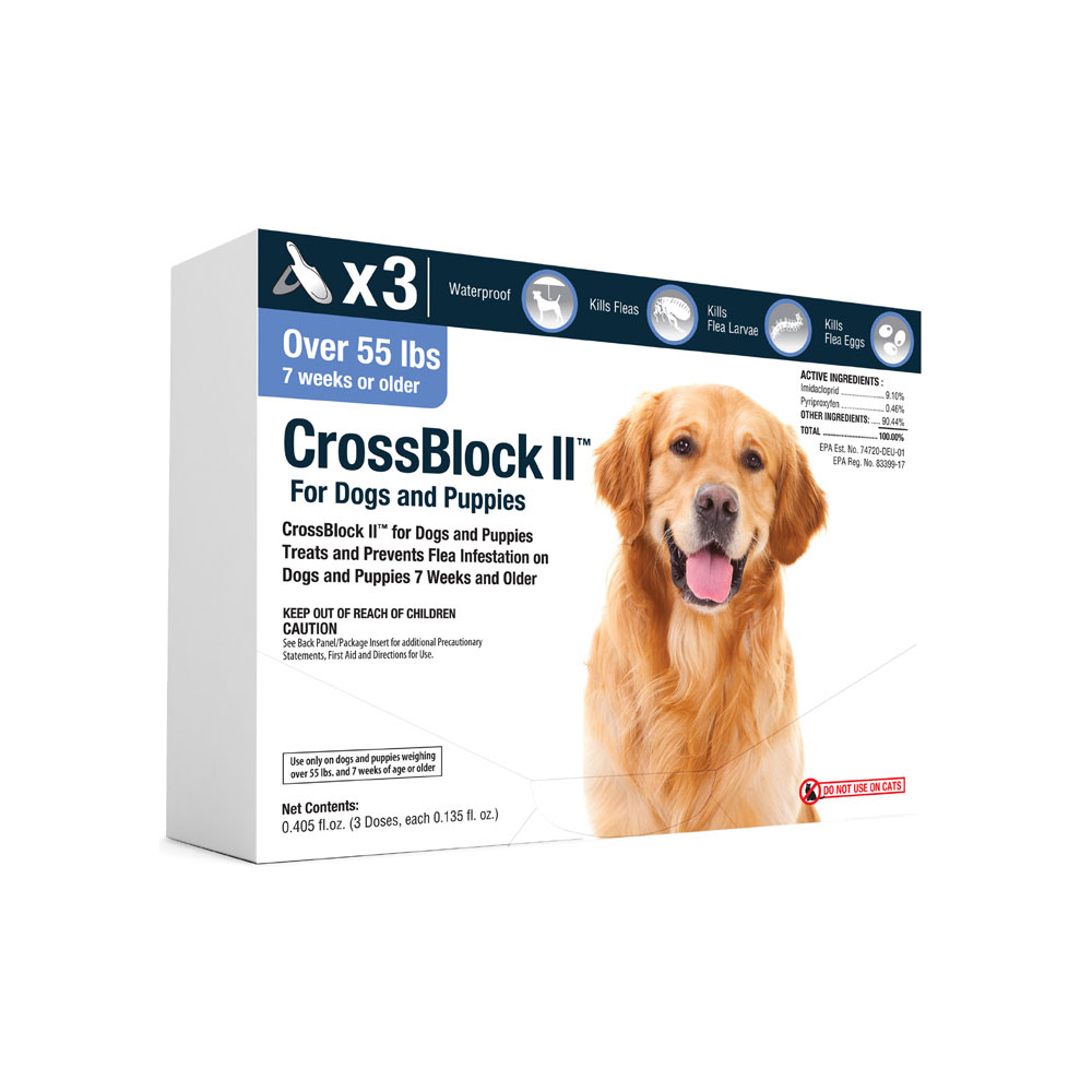CrossBlock II for Dogs and Puppies Over 55 Pounds - Blue Label (3 Month)