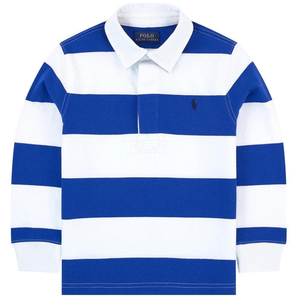 Ralph Lauren Kids Long Sleeve Polo Shirt Blue Colour: BLUE, Size: 14-16 YEARS