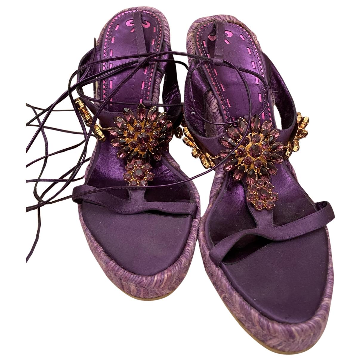 Emanuel Ungaro - Sandales   pour femme en toile - violet