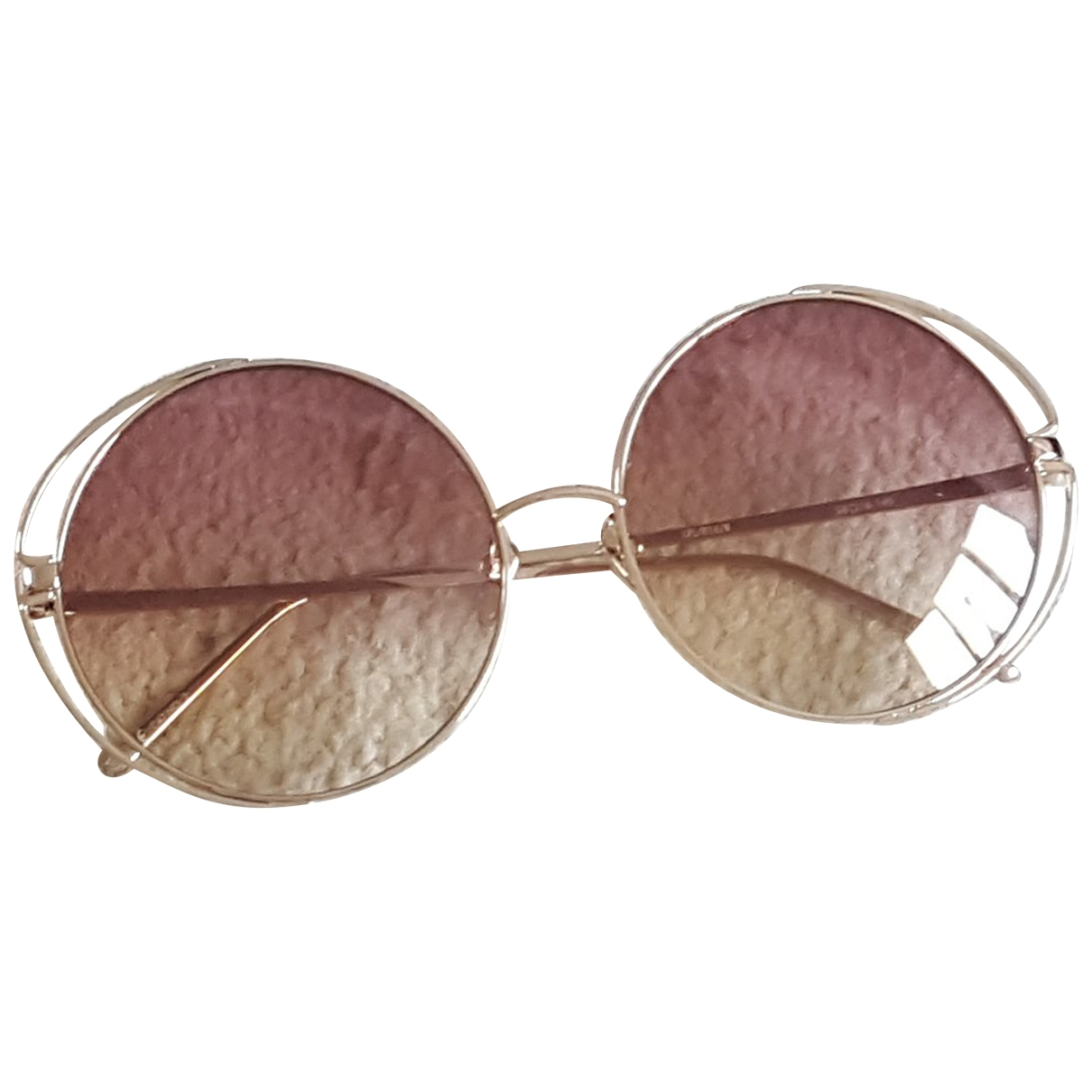 Linda Farrow \N Gold Metal Sunglasses for Women \N