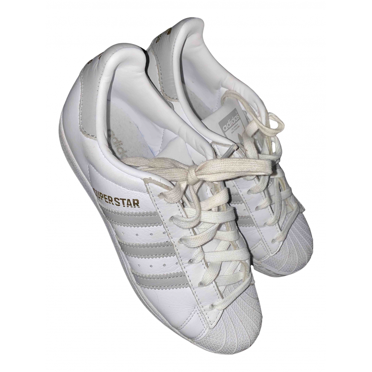 Adidas Superstar White Leather Trainers for Women 37.5 EU