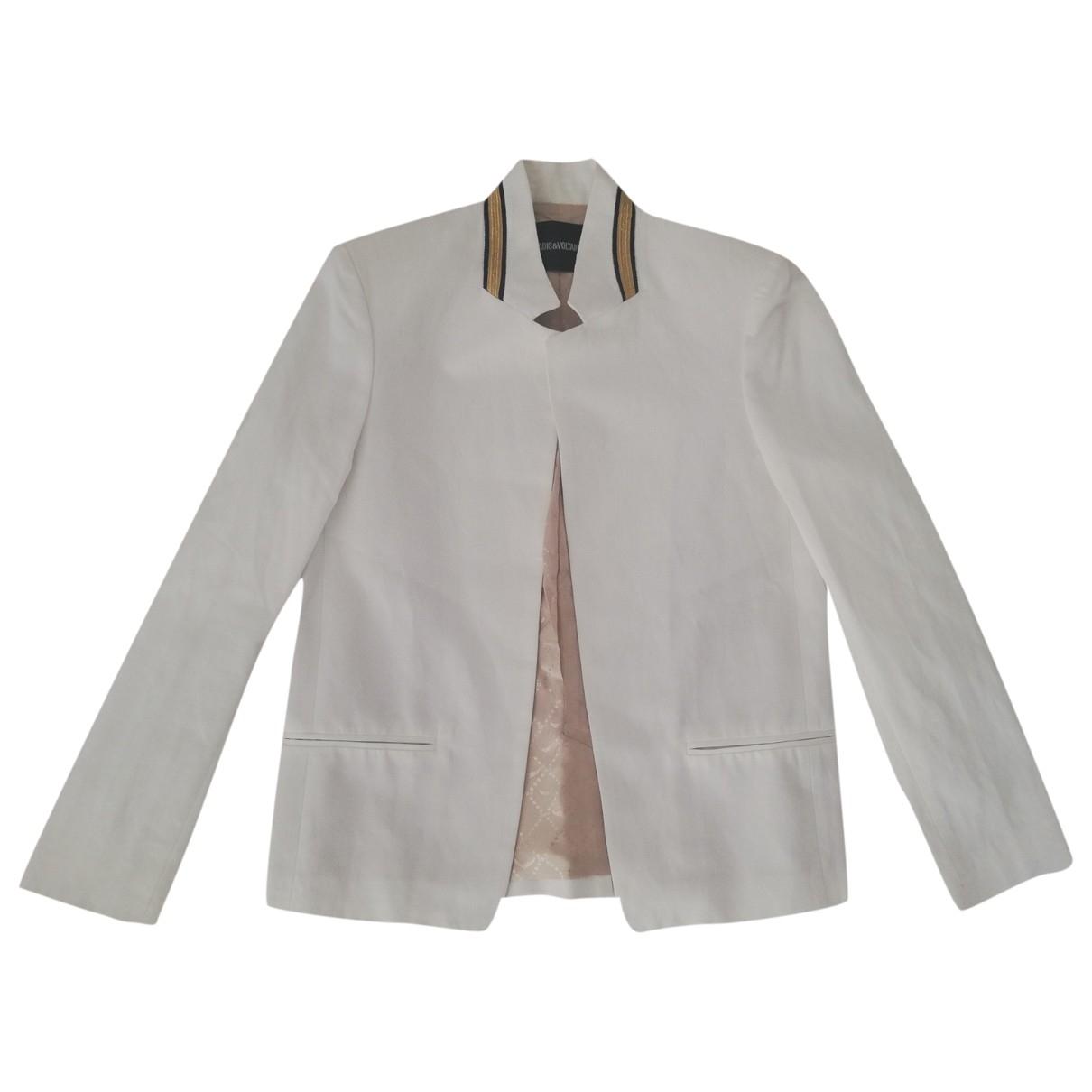 Zadig & Voltaire - Veste   pour femme en coton - blanc