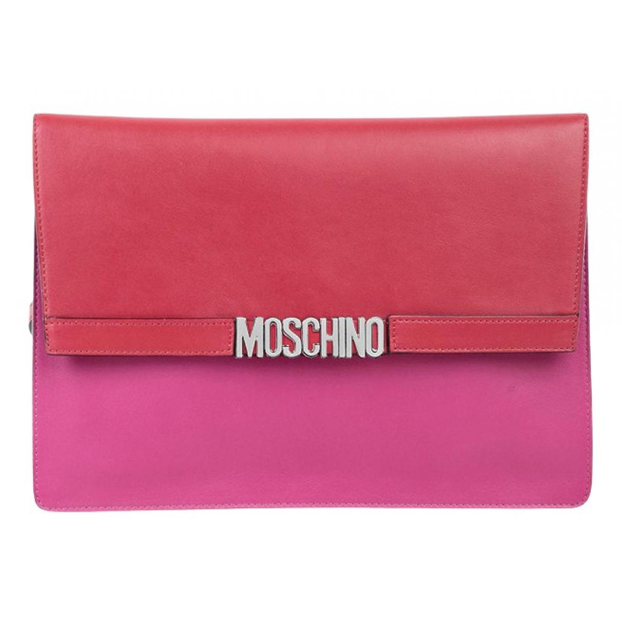 Moschino \N Clutch in  Rosa Leder
