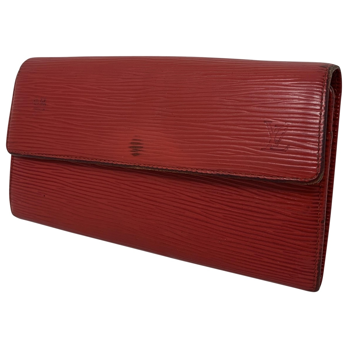 Louis Vuitton Sarah Portemonnaie in  Rot Leder
