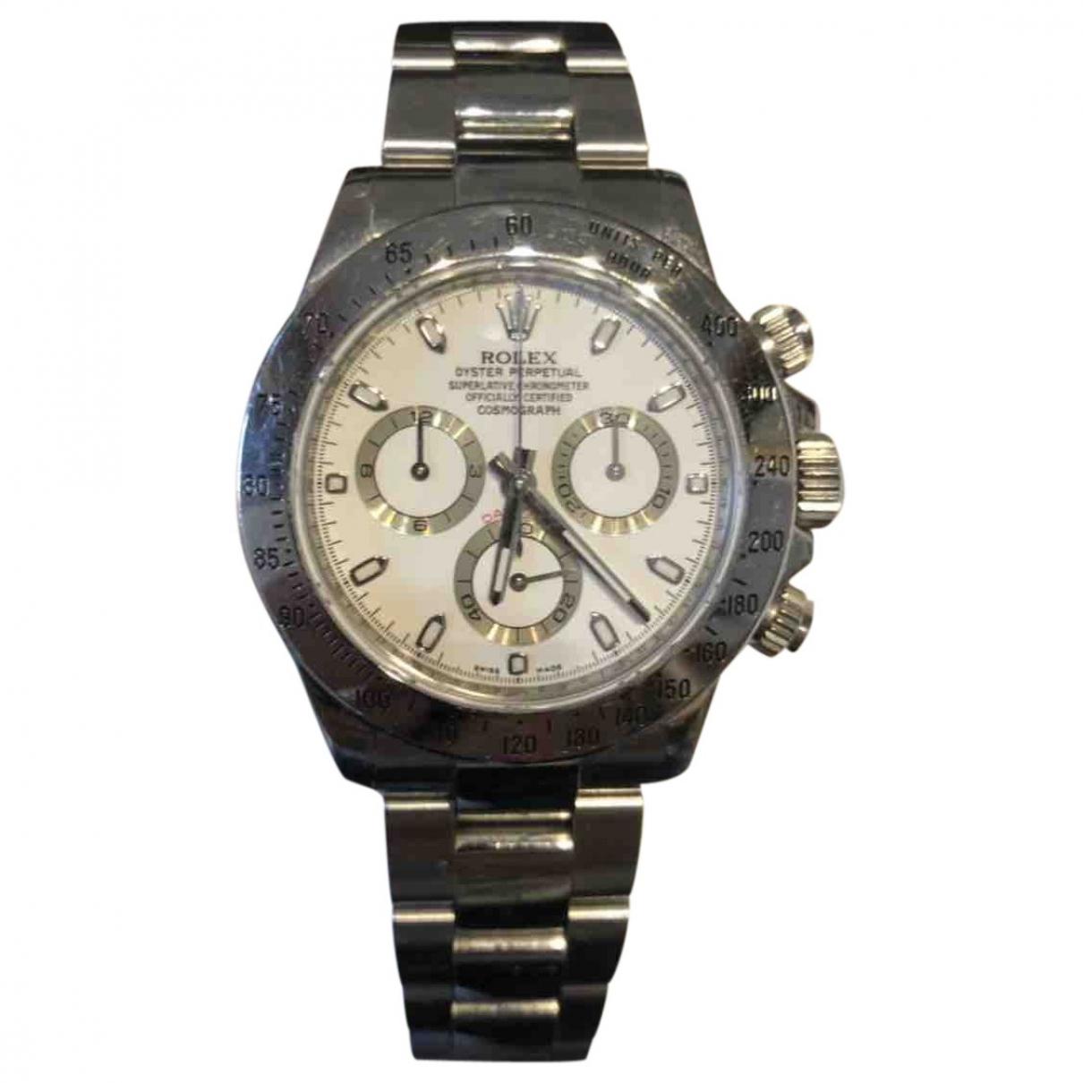 Rolex Daytona Uhr in  Weiss Stahl