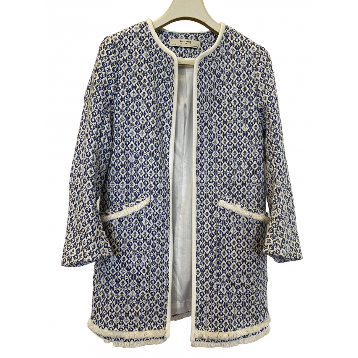 Zara - Manteau   pour femme en coton - multicolore