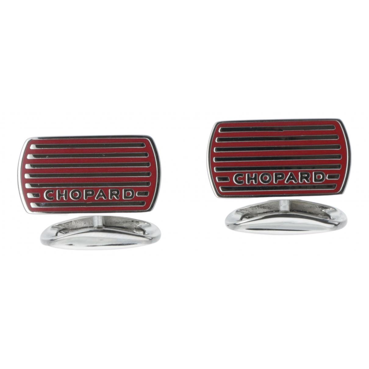 Chopard - Boutons de manchette   pour homme en acier - rouge