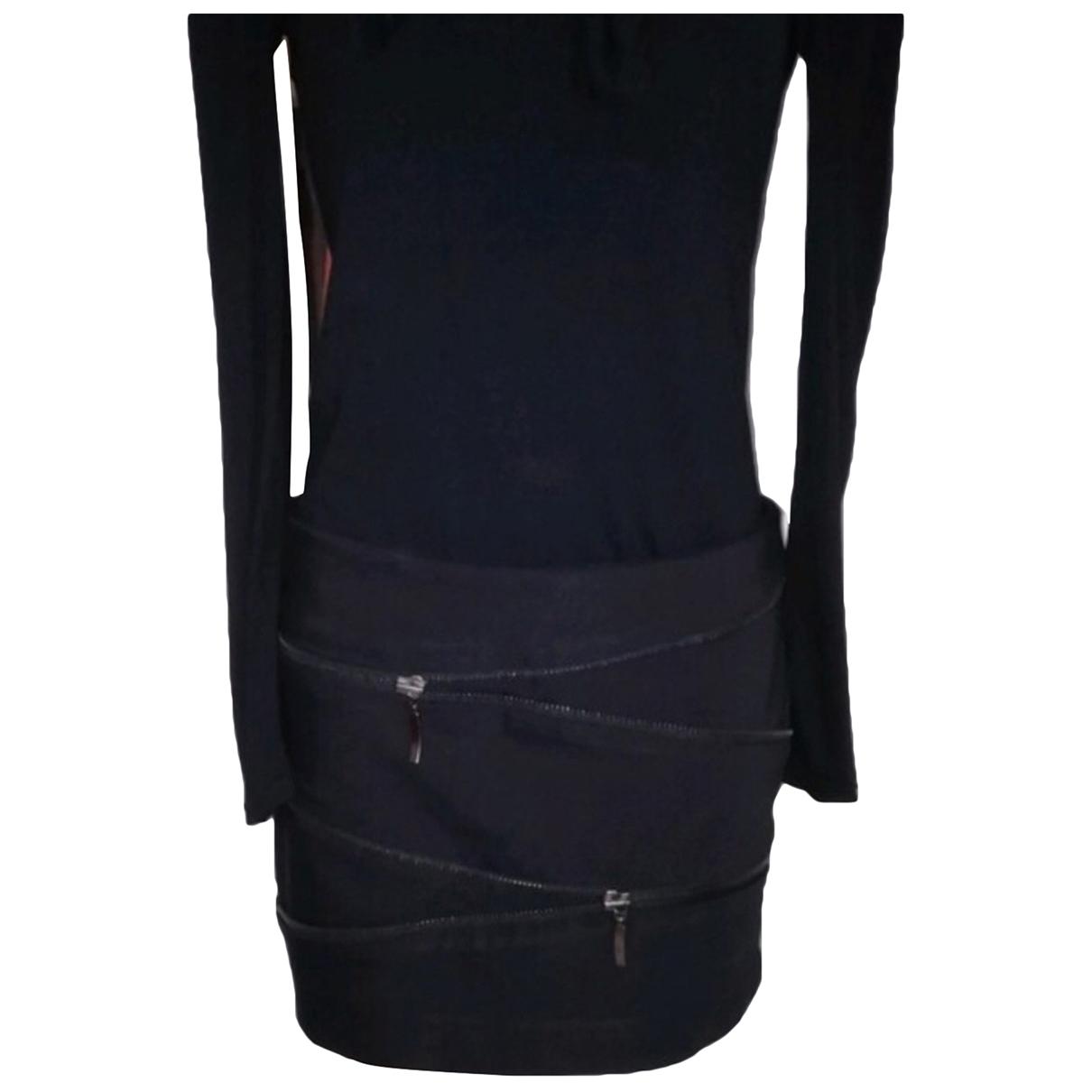 Zara \N Black Cotton skirt for Women 38 FR