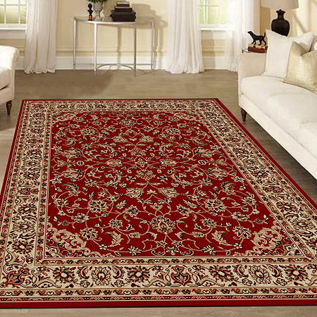Como Sarouk Traditional Oriental Area Rug, One Size , Red