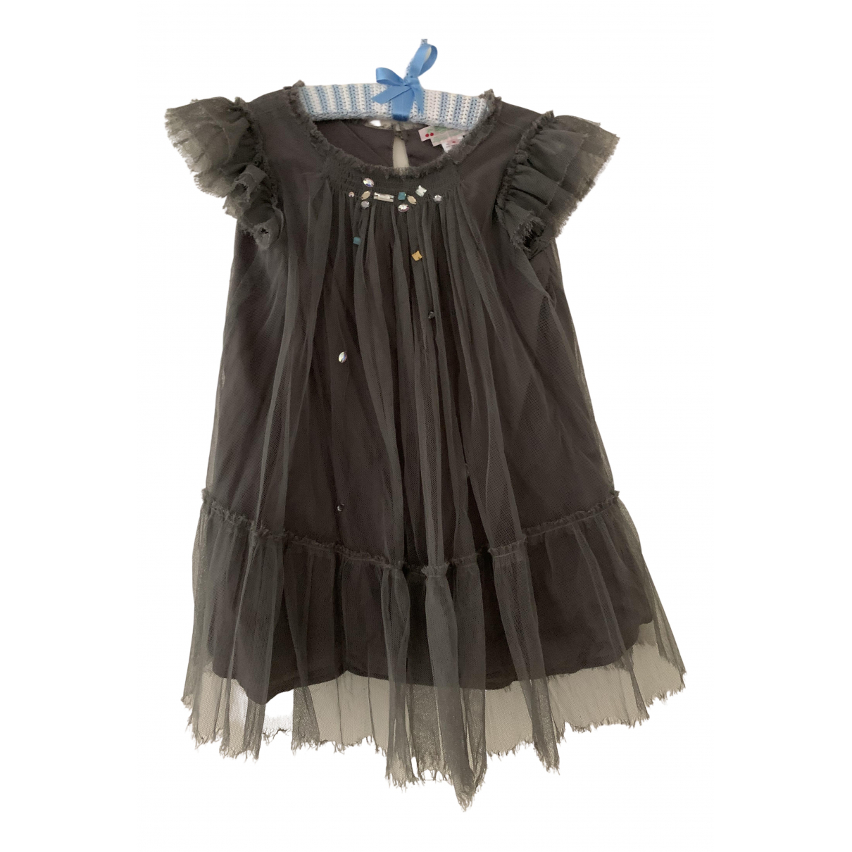 Bonpoint N Black Cotton dress for Kids 6 years - up to 114cm FR