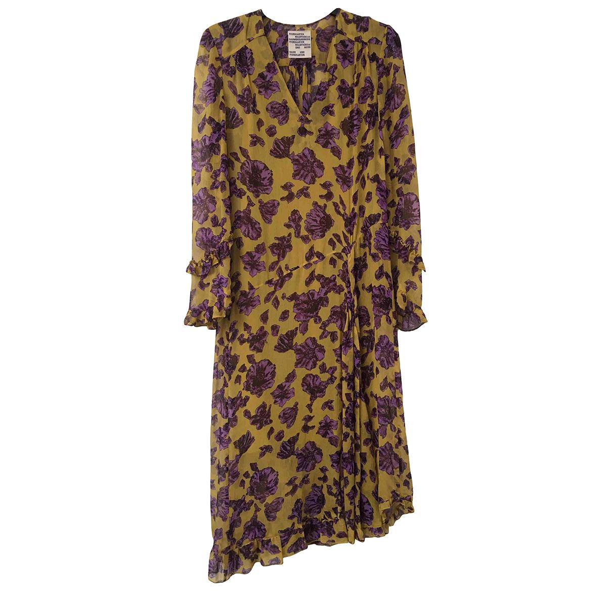 Baum Und Pferdgarten \N Kleid in  Gelb Viskose