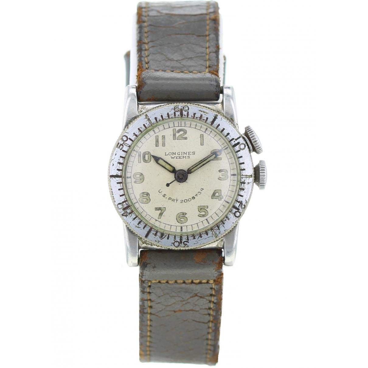 Longines \N Khaki Steel watch for Men \N