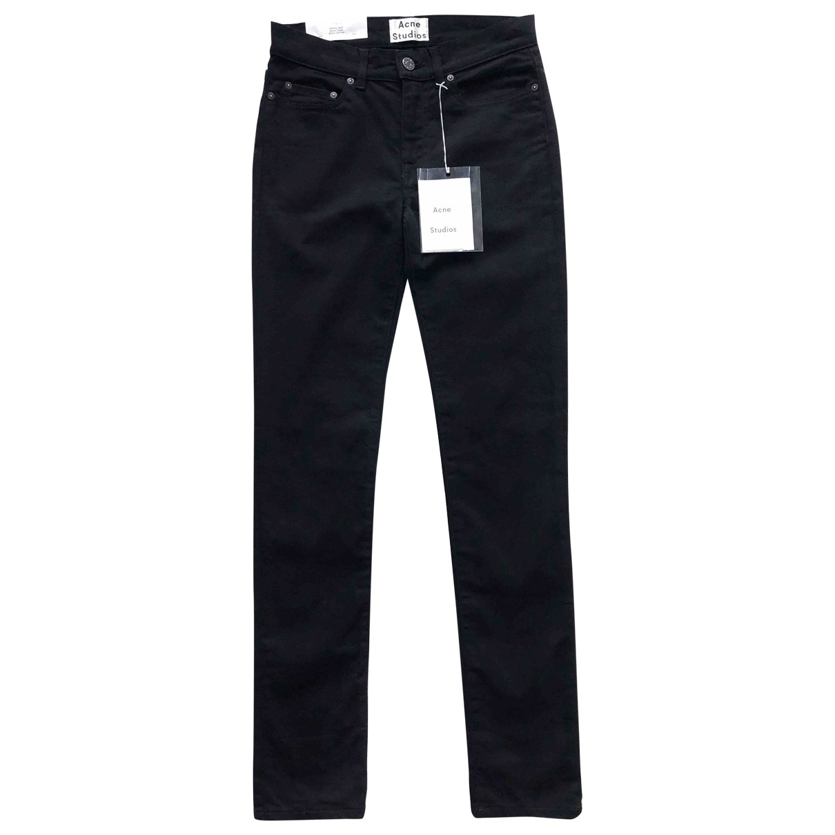 Acne Studios \N Black Cotton - elasthane Jeans for Women 28 US