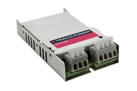 TRACOPOWER TEQ 20WIR 20W DC-DC Converter Chassis Mount, Voltage in 18 → 75 V dc, Voltage out ±12V dc Railway