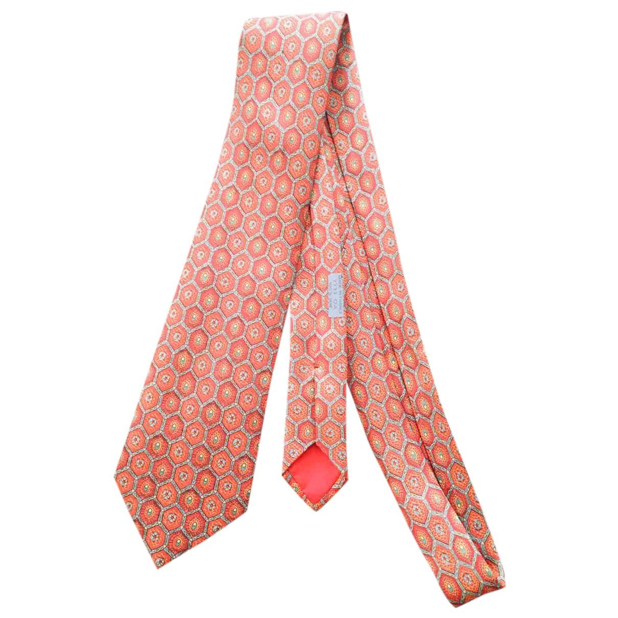 Hermes - Cravates   pour homme en soie - orange