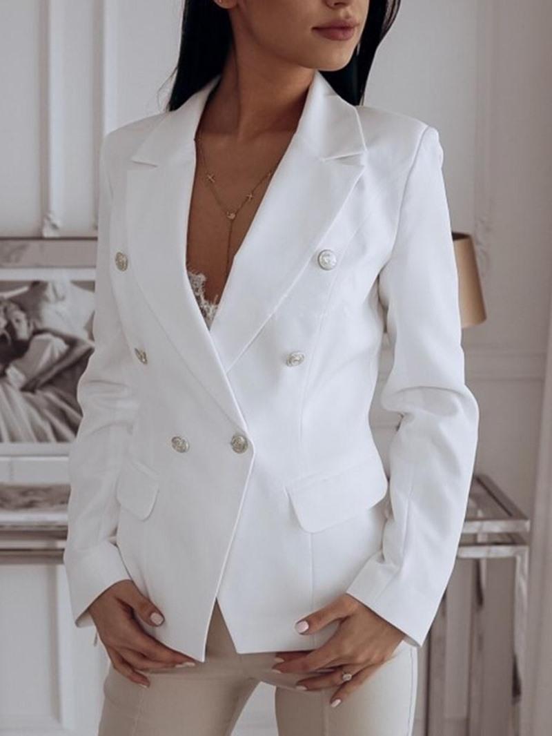 Ericdress Long Sleeve Plain One Button Standard Casual Women's Blazer