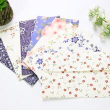 4 Stuecke Zufaellige Umschlag mit Blumen Muster