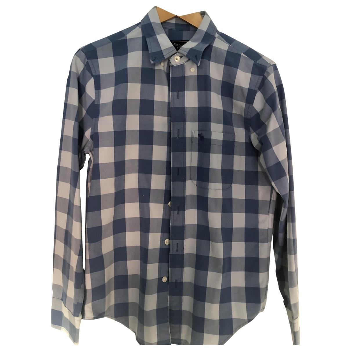 Abercrombie & Fitch - Chemises   pour homme en coton - bleu