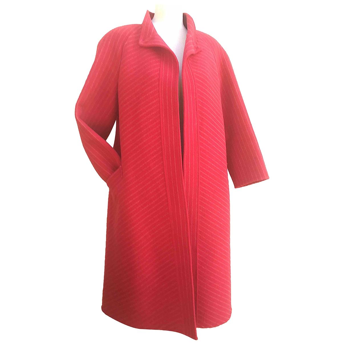 - Manteau   pour femme en laine - rose