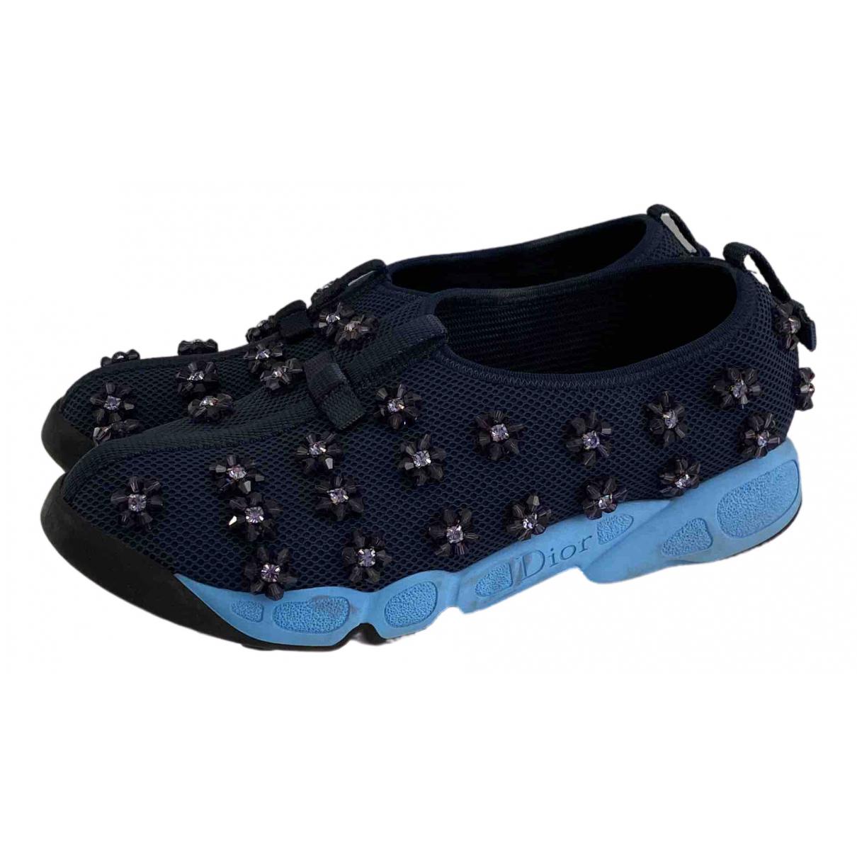 Dior - Baskets Dior Fusion pour femme en a paillettes - bleu