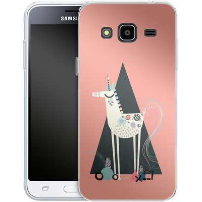 Samsung Galaxy J3 (2016) Silikon Handyhuelle - Unicorn Triangle von Victoria Topping