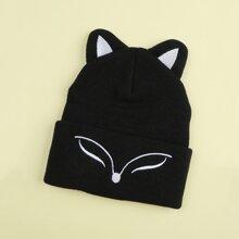 Fox Design Cuffed Beanie