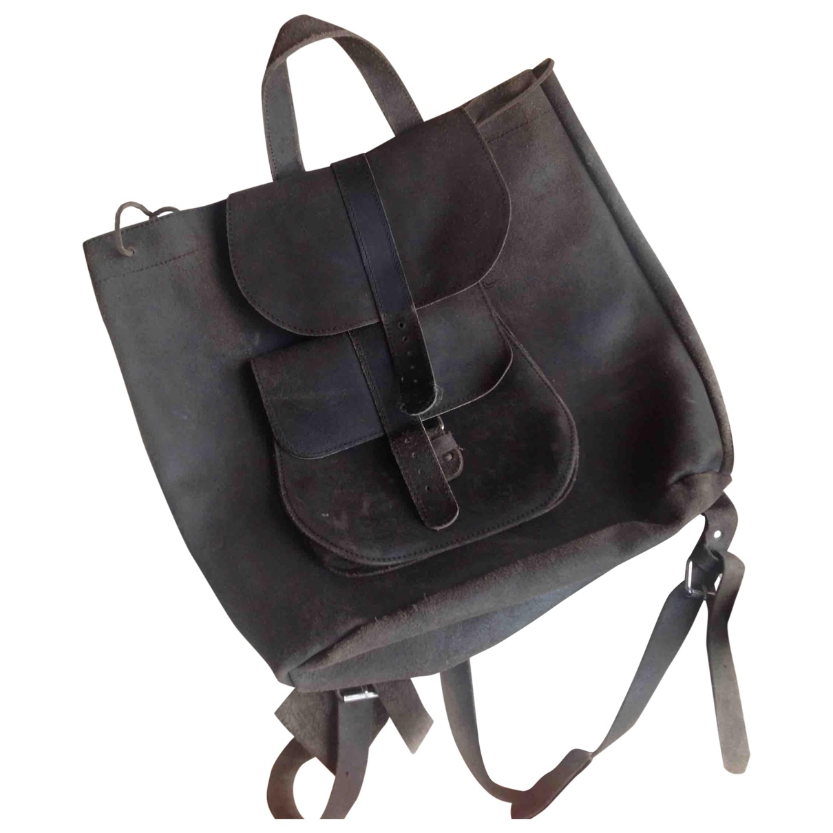 Non Signé / Unsigned \N Leather backpack for Women \N