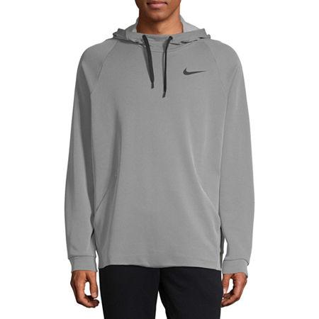 Nike Mens Long Sleeve Moisture Wicking Hoodie, Xx-large , Gray
