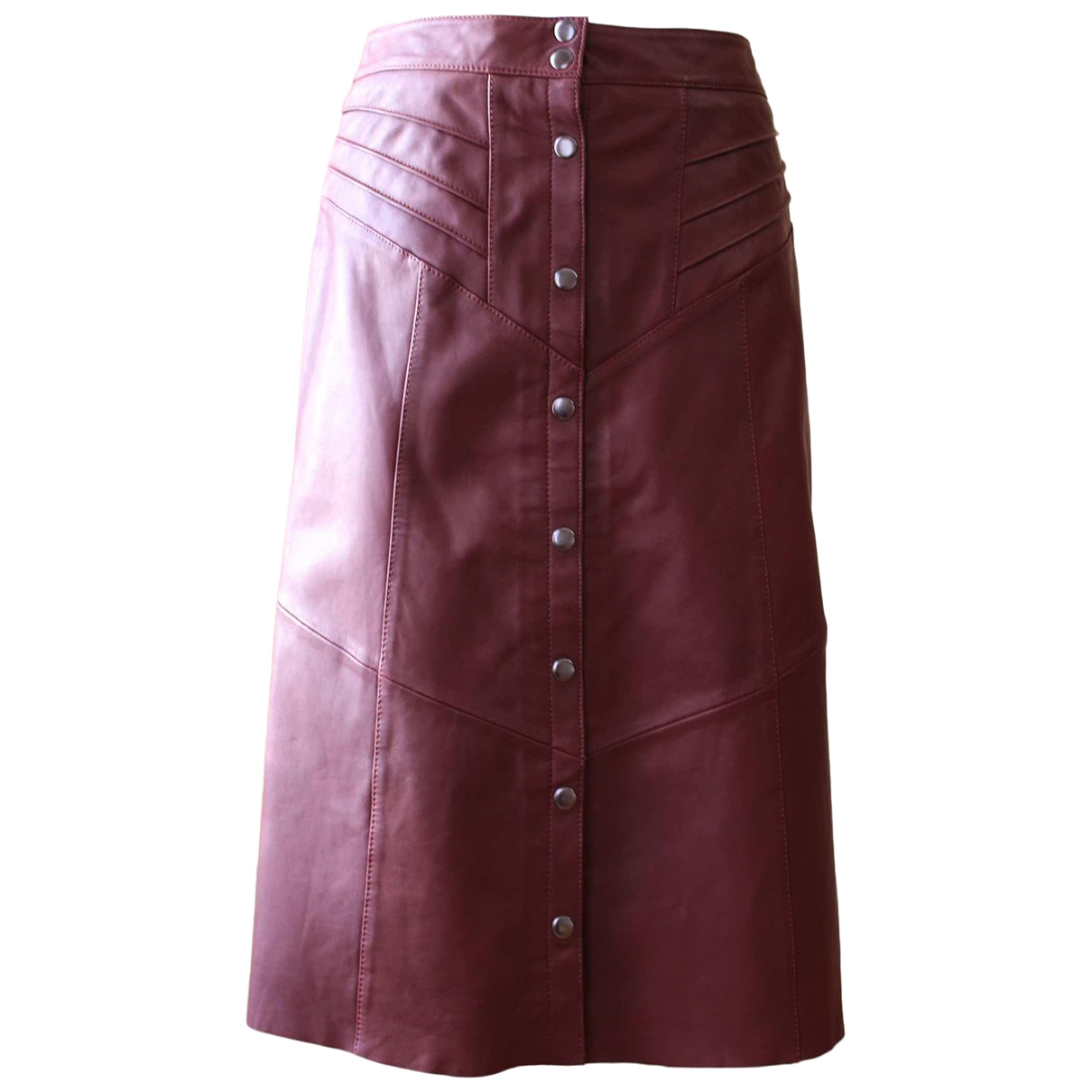Les Petites \N Burgundy Leather skirt for Women 40 FR