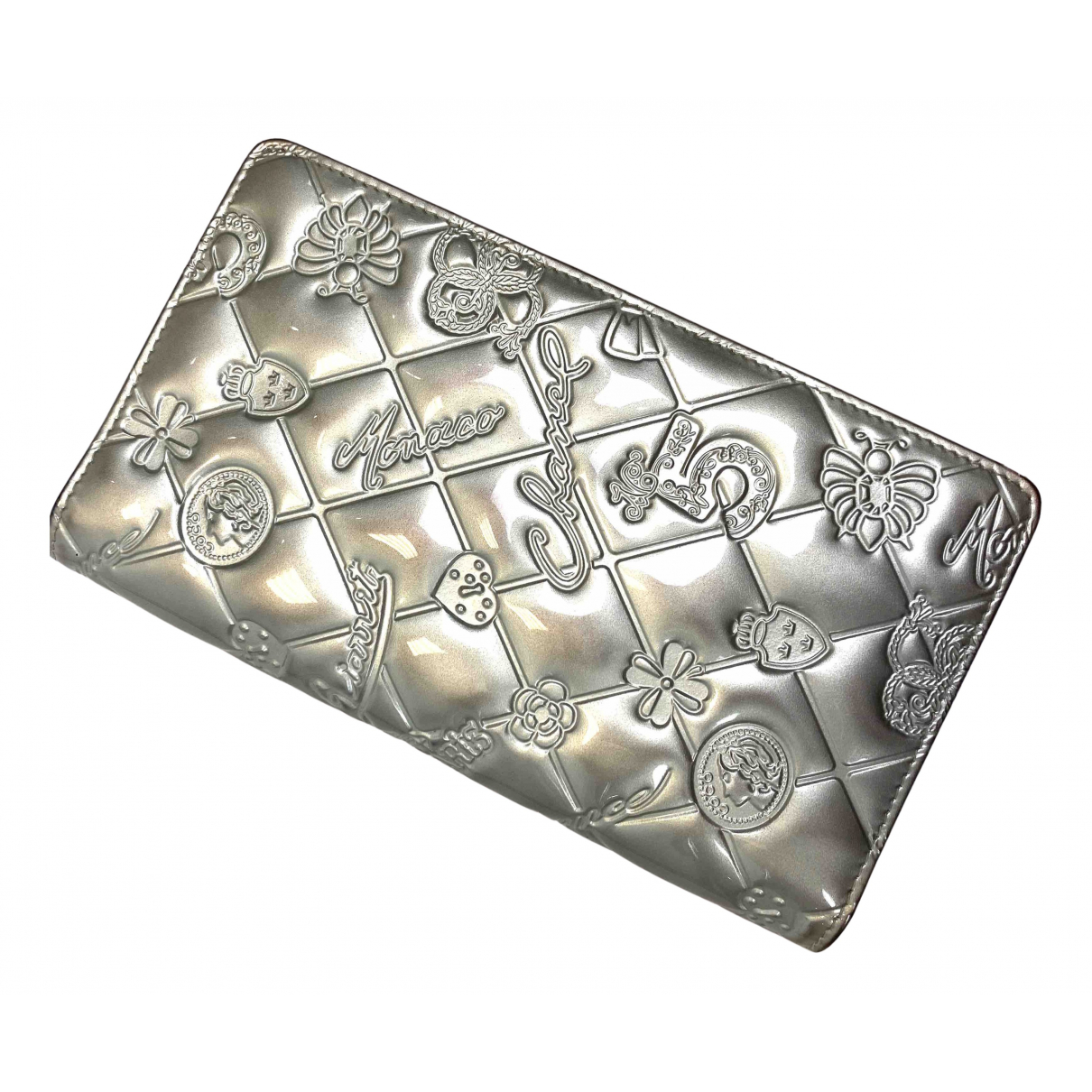 Chanel N Silver Leather wallet for Women N