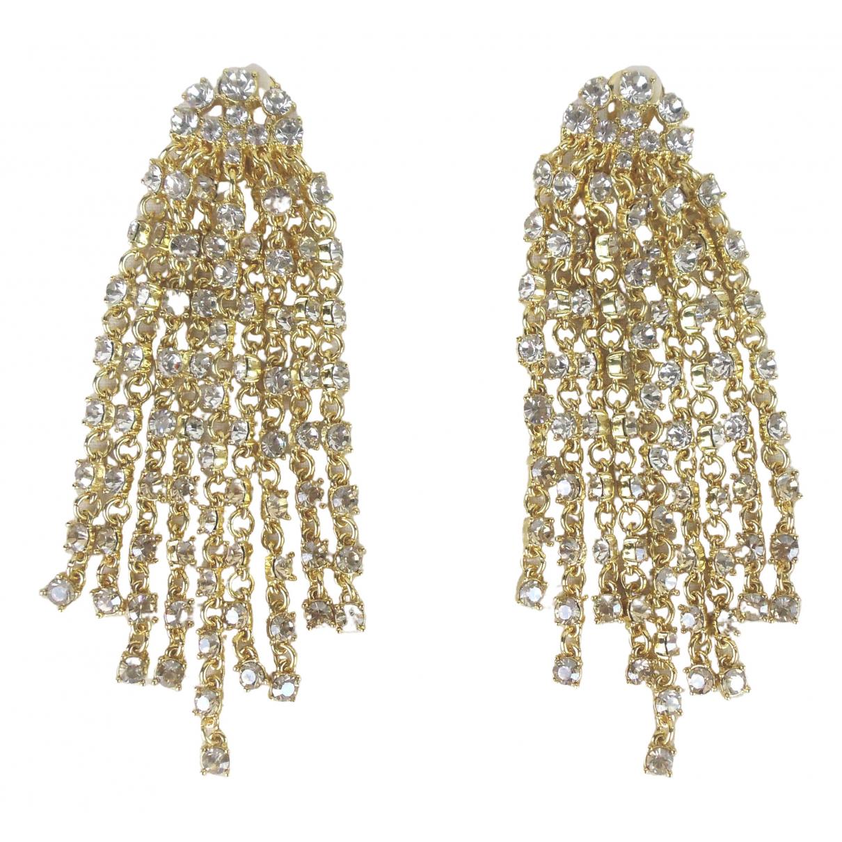 Oscar De La Renta - Boucles doreilles   pour femme en cristal - dore