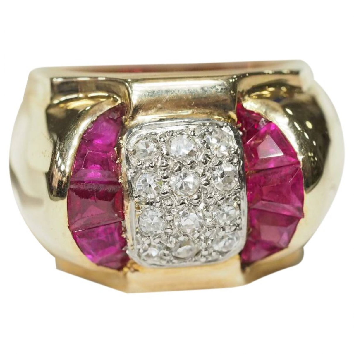 Non Signé / Unsigned \N Gold Pink gold ring for Women 56 EU