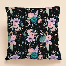 1pc Flower Print Cushion Cover Without Filler