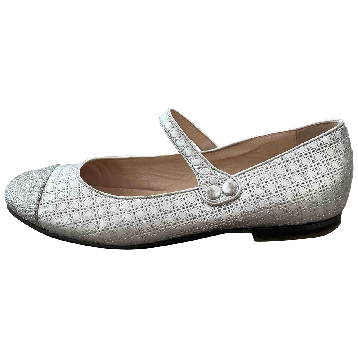 Baby Dior \N Silver Leather Ballet flats for Kids 36 EU